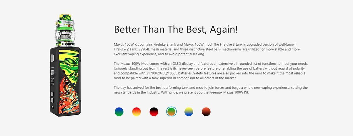Freemax Maxus 100W kit